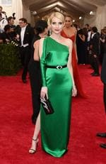 """Emma Roberts attends the Met Gala 2015 """"China: Through The Looking Glass"""". Picture: Getty"""