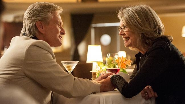 Diane and Michael dine in a scene from the romantic comedy, out this Thursday.
