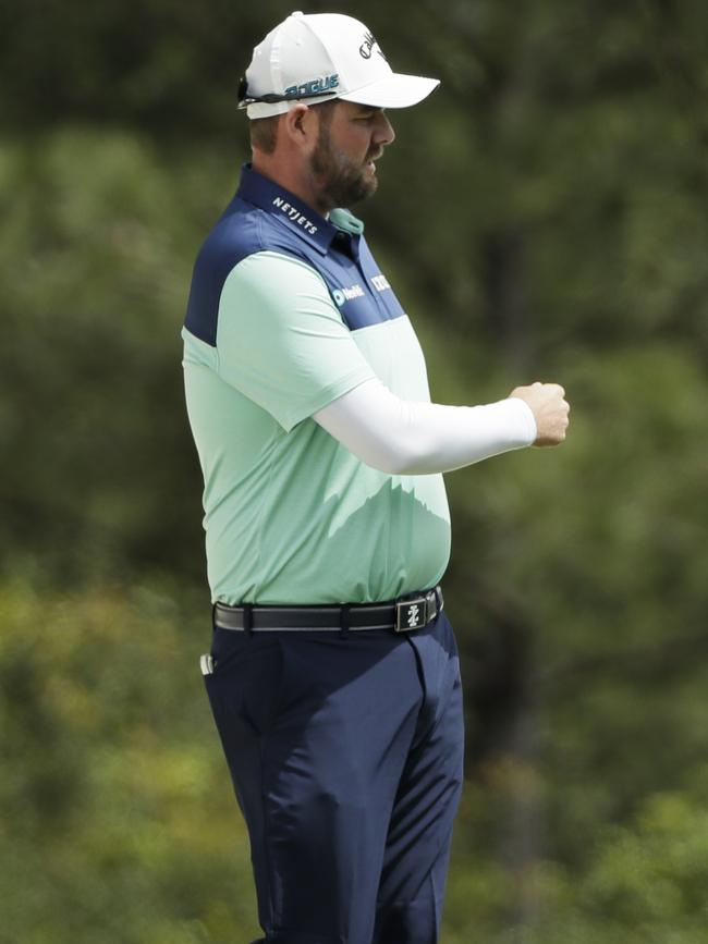 Marc Leishman stormed home.