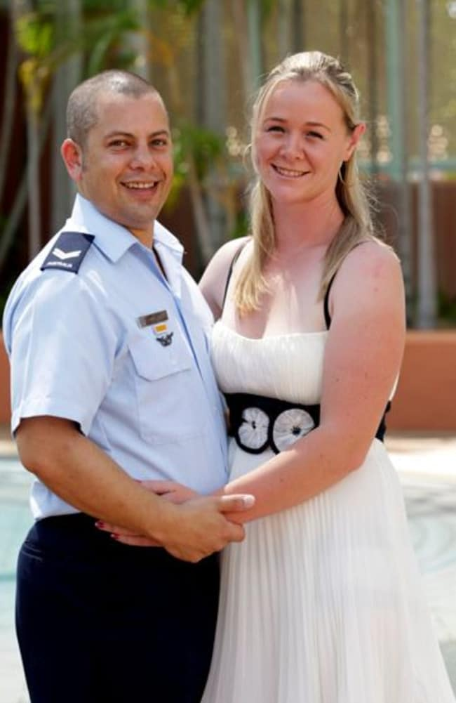 Chaplain had affair with wife of Corporal being counselled ... Curtis Oliver and former wife Hailey.