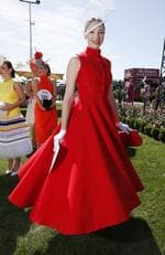 2015 Melbourne Cup Day at Flemington Racecourse. Myer Fashion in the Field. Claire Goldsworthy. Picture: David Caird.