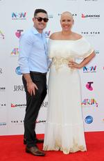 James Beverley and Catherine Britt at the 2015 Aria Awards held at The Star in Pyrmont. Picture: Christian Gilles