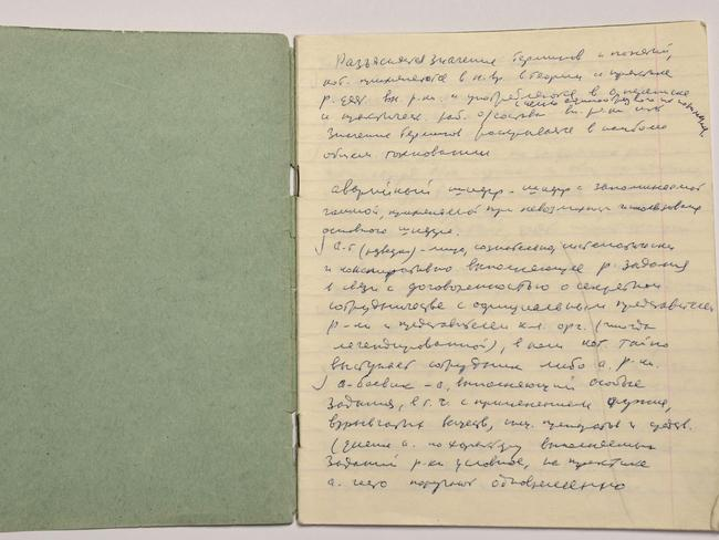 Finally revealed ... Vasili Mitrokhin's handwritten copy of the KGB First Chief Directorate Lexicon, and original documents from one of the biggest intelligence leaks in history. Picture: Churdhil Archive Centre
