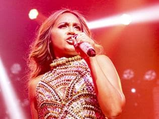 Jessica Mauboy performs on her All The Hits tour. Picture: Supplied / Sony