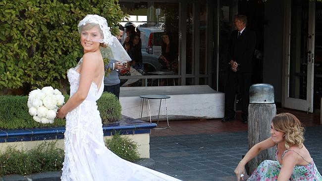 Natalie Bassingthwaighte pictured in her wedding dress with her sister Mel when she had her reception at the popular venue.
