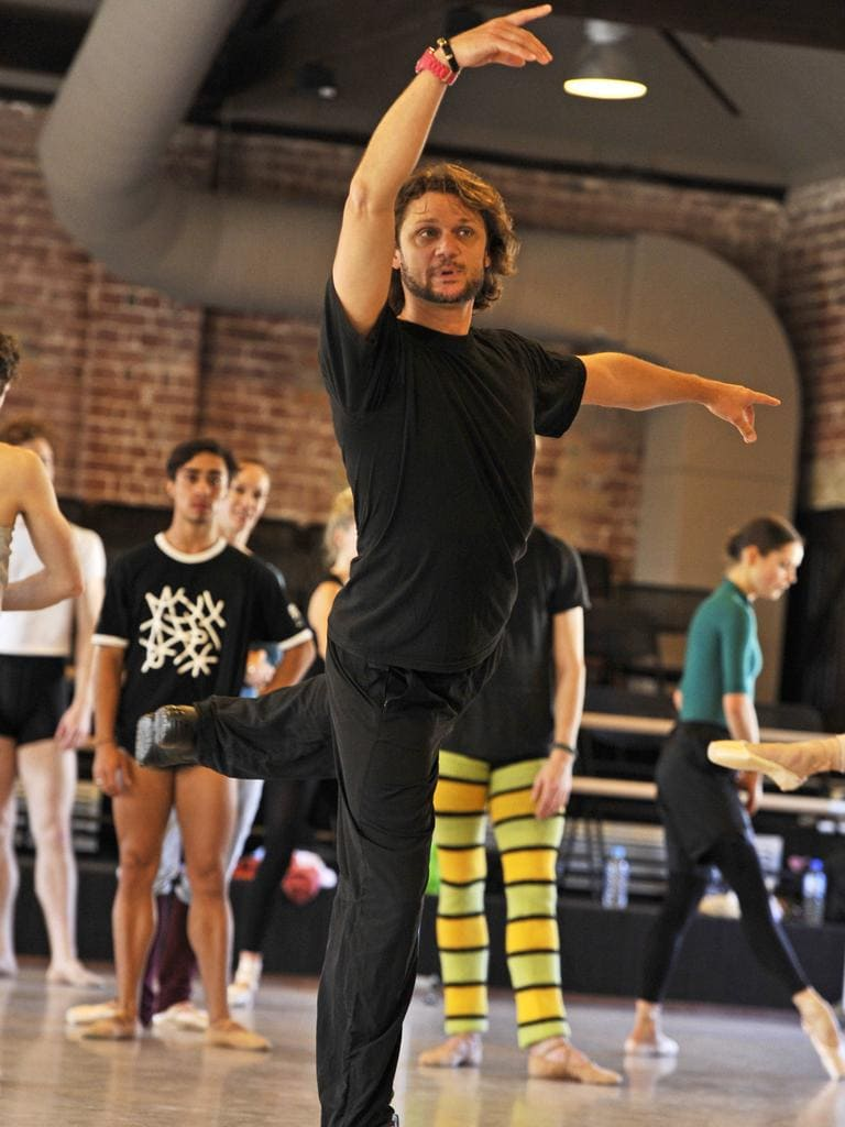 Artistic director Aurelian Scanella leads rehearsal for the WA Ballet company at its Maylands headquarters. Picture: Stewart Allen.