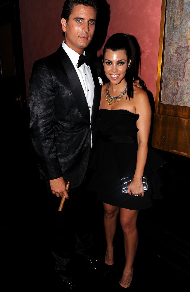 Icy ... Scott and Kourtney, pictured at a party thrown in honour of Kourt's sister Kim Kardashian and her then-husband, Kris Humphries, in New York back in 2011. Picture: Getty Images