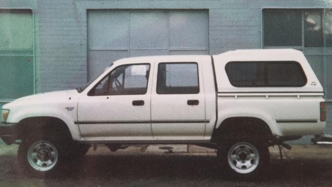 A white Toyota Hilux similar to the one police believe was used in the abduction of Gordana.