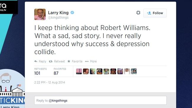 Larry King's unfortunate typo.