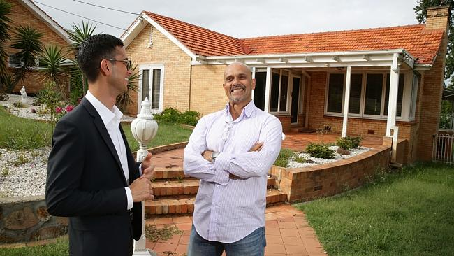 Ray De Jonk sold his house in Indooroopilly for more than $1.5 million within one day of being listed, sold by real estate agent Alex Jordan of McGrath. Pic: Liam Kidston