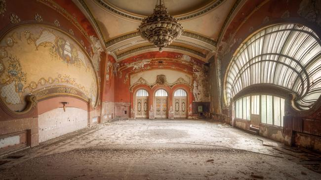 Time capsule ... one of the gambling rooms in the abandoned casino. Picture: Roman Robroek/Cater News
