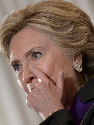 Hillary Clinton concedes, Picture: AFP