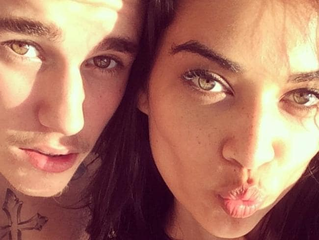 "Cosy ... Justin Bieber posted this photo of him with Shanina Shaik under the caption ""Don't even start with dating rumours."""