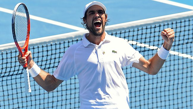 France's Jeremy Chardy continued to slay giants on day eight of the Australian Open.