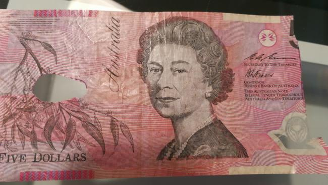 An example of the kind of banknote Mr Shahar redeems.