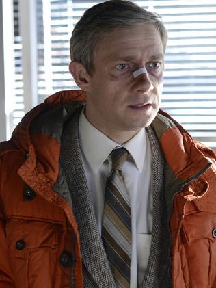Martin Freeman received a Golden Globe and Emmy nomination for his brilliant turn as Lester Nygaard in the TV show Fargo. Picture: Supplied