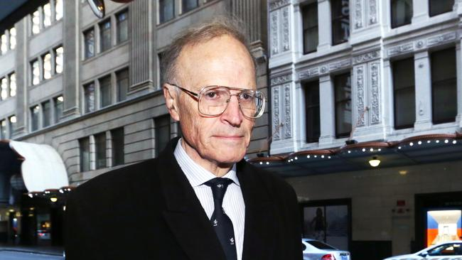 Hot water ... commissioner Dyson Heydon was brought into question. Picture: Britta Campion