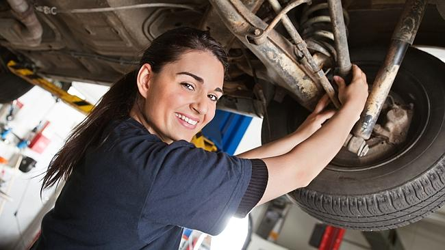 Female motor mechanics often move into specialised work. Picture: Thinkstock