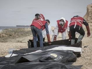 Libya's Red Crescent says 74 bodies of migrants have washed ashore in the western city of Zawiya on the Mediterranean Sea.