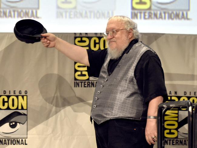 George R.R. Martin attends Comic-Con International 2014 in San Diego.