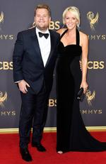 James Corden and Julia Carey attend the 69th Annual Primetime Emmy Awards at Microsoft Theater on September 17, 2017 in Los Angeles. Picture: Getty