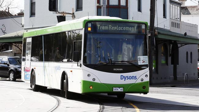 Some Yarra trams will be replaced with buses due to delayed works at the new stop near Crown casino. Picture: Paul Loughnan