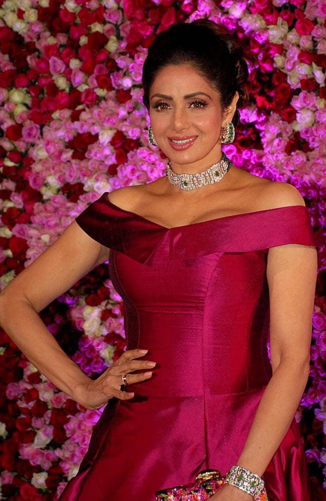 Sridevi Kapoor poses during a promotional event in Mumbai last year. Picture: Sujit Jaiswal / AFP