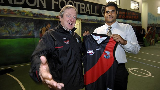 Mal Michael with Kevin Sheedy.