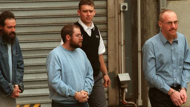 INFAMOUS: Mark Ray Haydon with John Justin Bunting and Robert Joe Wagner were all convicted of the serial killings.