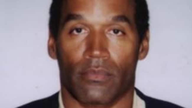 OJ Simpson in his booking photo mug shot for the murders of Nicole Brown and Ron Goldman. Picture: Supplied