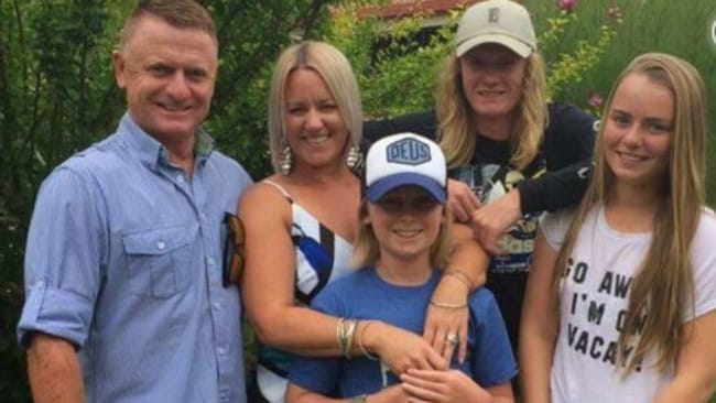 Lochie Connaughton, back right, pictured with his family. Picture: GoFundMe