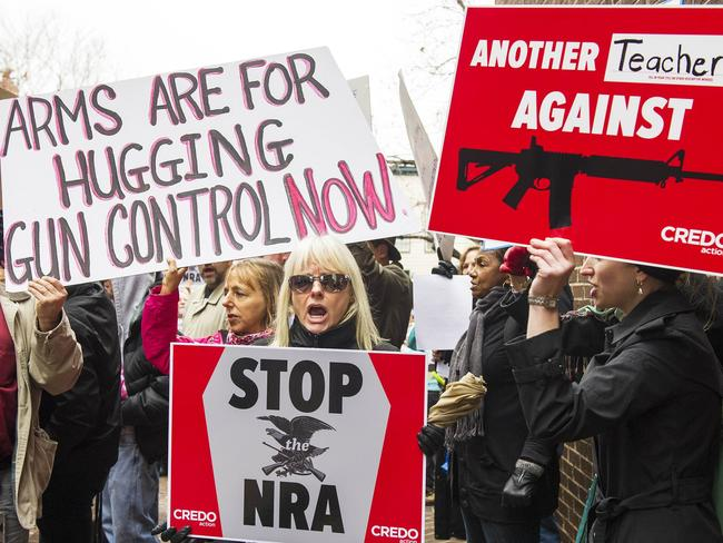 Sandy Hook was supposed to be the wake-up call America needed, but a national commitment to gun control was quickly faded. Picture: Paul J. Richards/AFP Photo