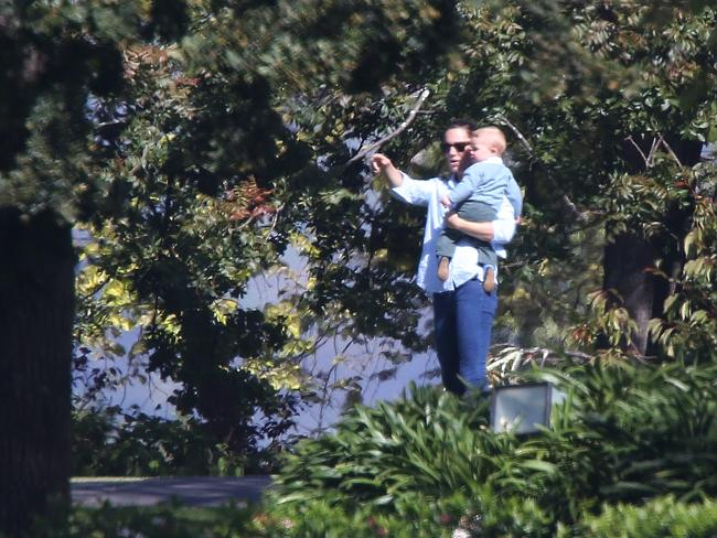 The Duchess of Cambridge on a day off, in the grounds of Government House.