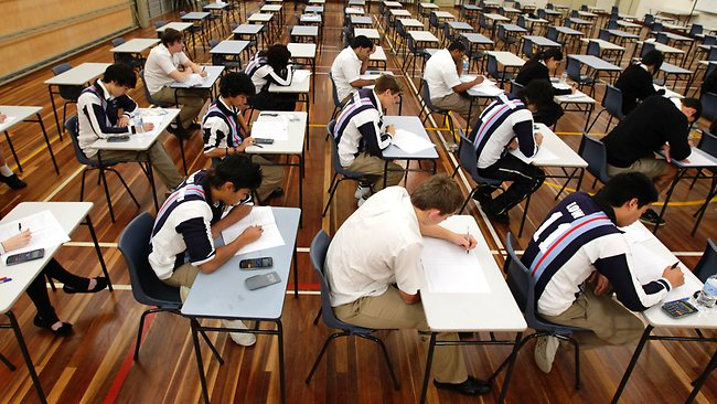 First day of the 2011 HSC exams with students from Kellyville High School sitting for Business Studies. Generic HSC Picture: Brad Hunter