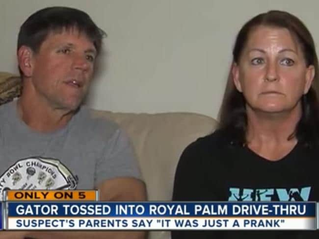 Worried ... Joshua James' parents Ed and Linda James said their son idolises Steve Irwin. Picture: WPTV