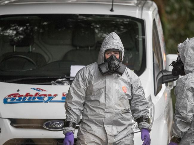 Investigators in protective clothing continue to investigate the attack on Russian double agent Sergei Skripal. Picture: Matt Cardy/Getty Images