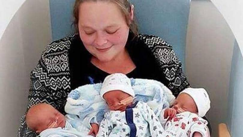 Sarah Owen lost two of her triplets after they died in their beds. Picture: Facebook