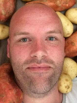 Andrew Taylor before his spud diet. Picture: Facebook/Spud Fit