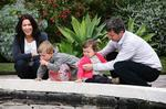 <p>Royal Highnesses Crown Prince Frederik and Crown Princess Mary of Denmark with their children Prince Christian and Princess Isabelle at Government House Sydney. Pic: James Elsby</p>