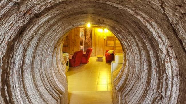 Head underground into the Venus Hill bed and breakfast in Coober Pedy. Picture: Stayz.