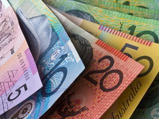 """Stock Photo of Australian Money, Five, Ten, Twenty, Fifty and One Hundred Dollar Notes"""