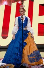 Paulina Brodd, Miss Sweden 2015 debuts her National Costume on stage at the 2015 Miss Universe Pagaent on December 16, 2015 in Las Vegas. Picture: HO/The Miss Universe Organization
