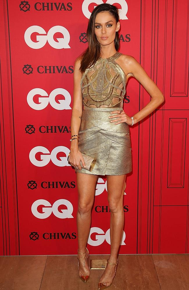 Nicole Trunfio arrives at the GQ Men of the Year awards. PicturE: Getty Images