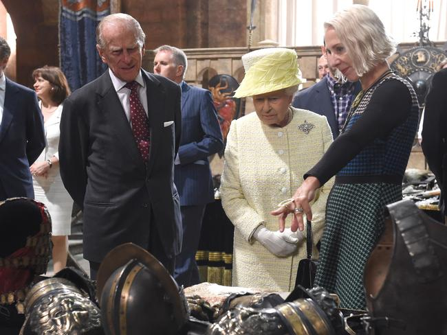 The Queen with Prince Philip at  <i>Game of Thrones</i> in Northern Ireland. Picture: AP Photo/Aaron McCracken