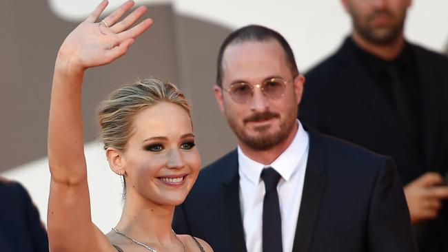 Lawrence and Aronofsky worked together on mother!. Picture: Splash News