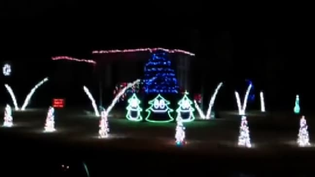 woman uses christmas lights to give neighbours the middle finger - Christmas Light Show Youtube