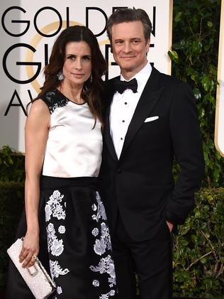 Perfect pair ... Livia Giuggioli and Colin Firth. Picture: AP