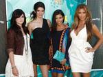 <p>From left, Kylie Jenner, Kendall Jenner, Kourtney Kardashian and Kim Kardashian arrive at the Teen Choice Awards on August 9, 2009.</p>