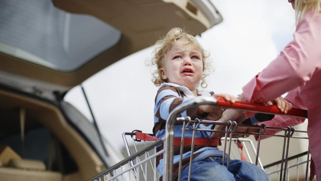 Shopping for too long with a toddler. Picture: Thinkstock.