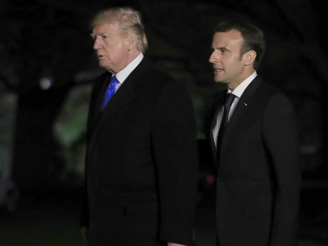 Mr Macron is expected to persuade Mr Trump not to sabotage the Iran deal. Picture: Manuel Balce Ceneta/AP